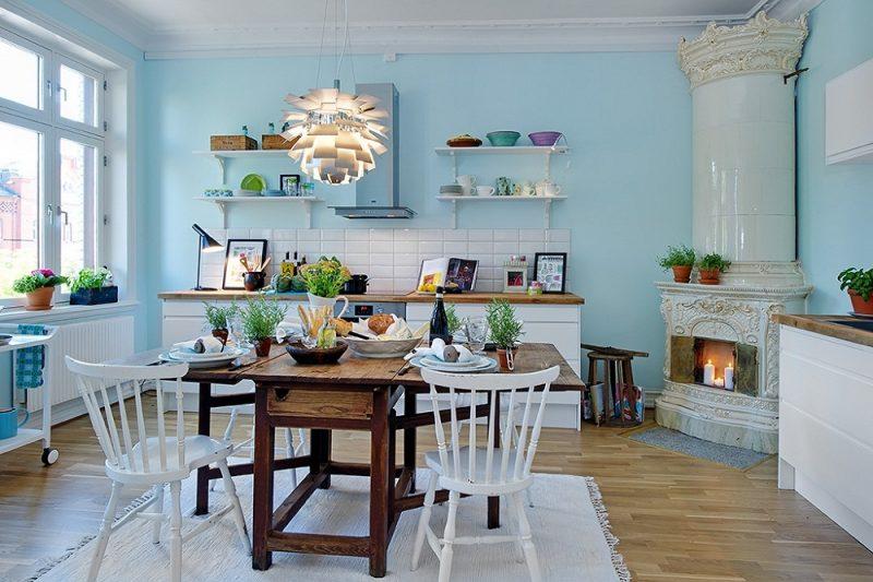 Sơn nhà màu gì đẹp - sơn nội thất màu xanh
