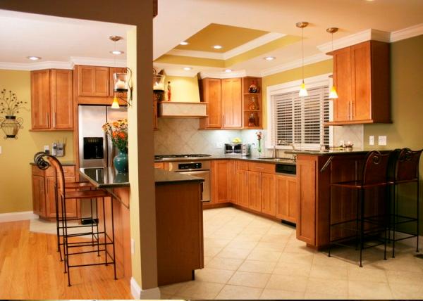 vách ngăn thạch cao phòng bếp