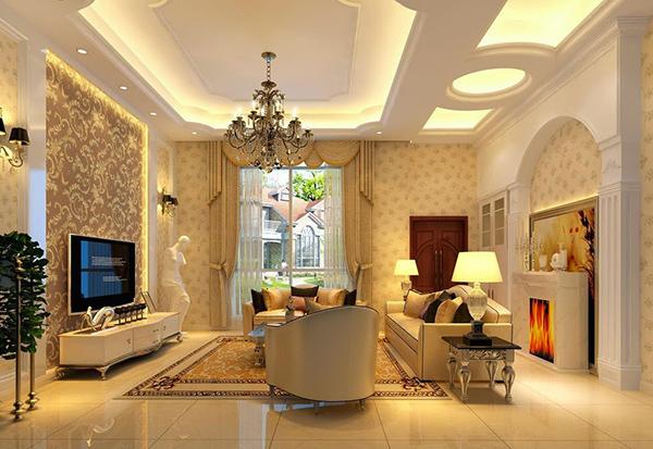 Mẫu trần thạch cao đẹp phòng khách