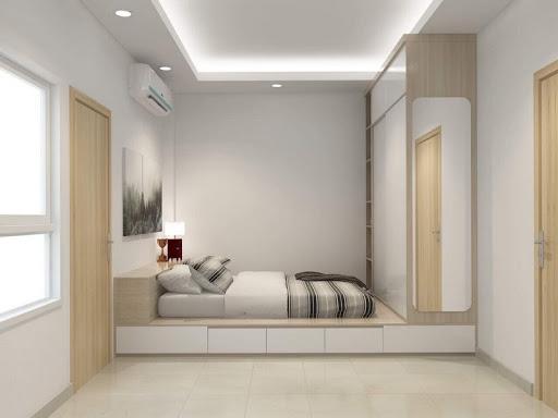 trần thạch cao phòng ngủ vợ chồng đơn giản