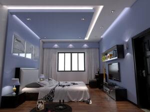 mẫu trần thạch cao phòng ngủ vợ chồng