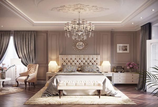 Phòng ngủ đẹp theo phong cách tân cổ điển