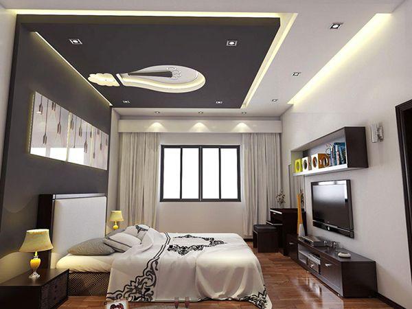Mẫu trần thạch cao phòng ngủ đẹp, hiện đại