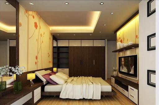 đèn âm trần thạch cao phòng ngủ nhỏ ấm áp