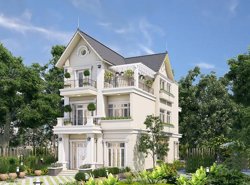 Mẫu 12: Màu trắng sơn nhà đẹp