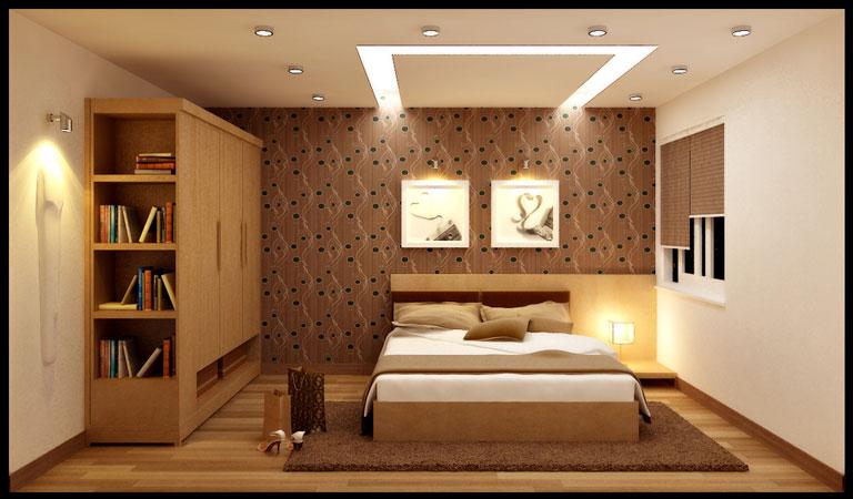 đèn âm trần thạch cao phòng ngủ nhỏ đẹp
