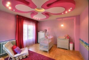 trần thạch cao phòng ngủ cho trẻ em