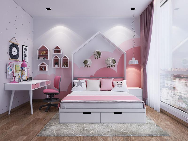 phòng ngủ đẹp cho bé gái