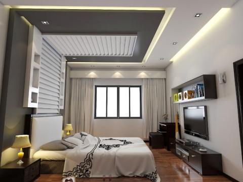 Trần thạch cao diện tích nhỏ phòng ngủ