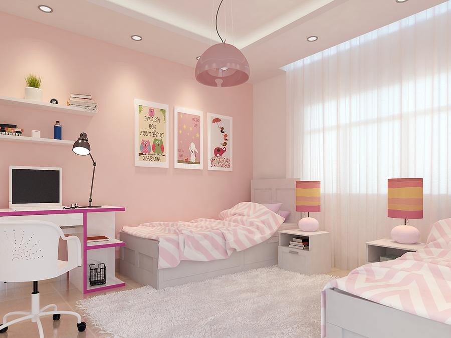 mẫu phòng ngủ đẹp màu hồng