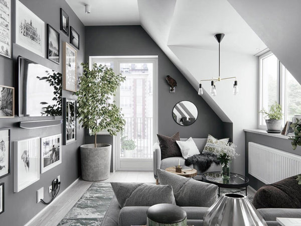Sơn nhà màu gì đẹp - sơn nội thất màu trắng xám