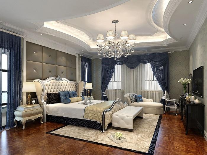mẫu trần thạch cao phòng ngủ giật cấp đẹp