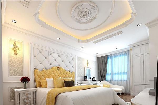 Mẫu trần thạch cao phòng ngủ vợ chồng đơn giản