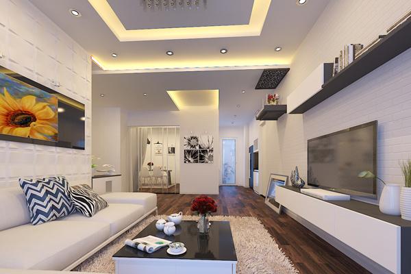 trần thạch cao đẹp nhà ống giúp không gian căn nhà sang trọng hơn