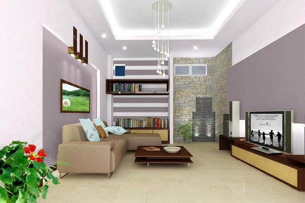 trần thạch cao đẹp nhà ống giúp không gian căn nhà rộng hơn