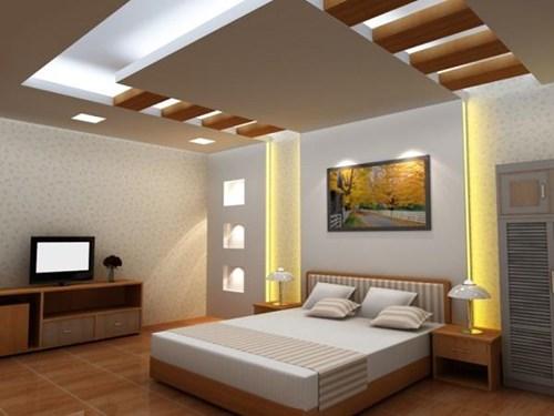 đèn led âm trần thạch cao phòng ngủ