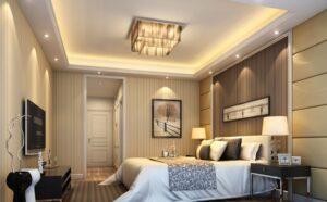 trần thạch cao phòng ngủ đẹp, sang trọng