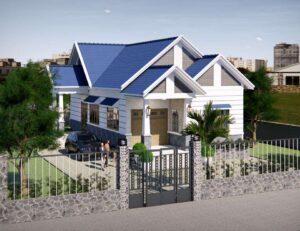Mẫu 6: Mẫu sơn nhà đẹp màu trắng