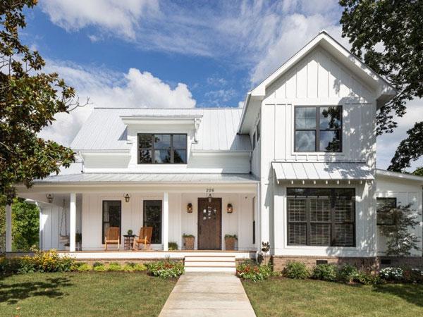 Mẫu 8: Màu trắng sơn nhà đẹp