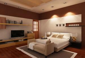 Mẫu trần thạch cao cho phòng ngủ vợ chồng thiết kế đơn giản