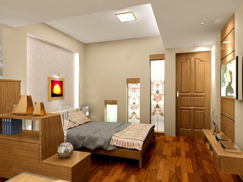 vách thạch cao phòng ngủ