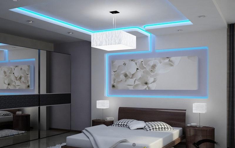 trần thạch cao phòng ngủ không gian vừa và nhỏ cho vợ chồng