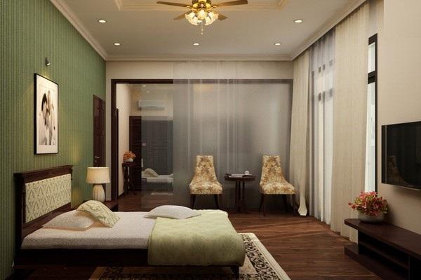 mẫu trần thạch cao phòng ngủ
