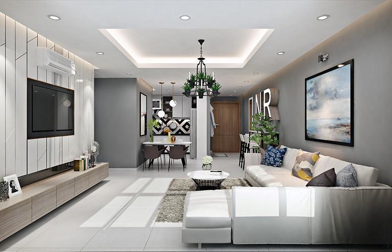 trần thạch cao đẹp phòng khách