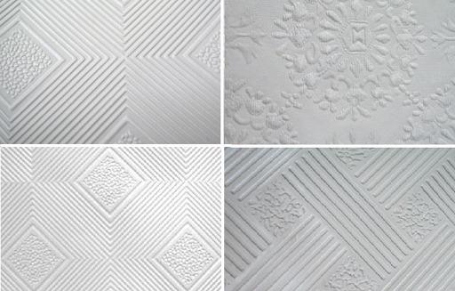 mẫu trần thạch cao phủ nhựa PVC