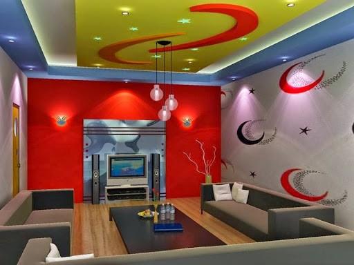 Mẫu trần thạch cao phòng karaoke đẹp
