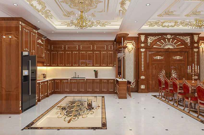 trần thạch cao chống ẩm nhà bếp