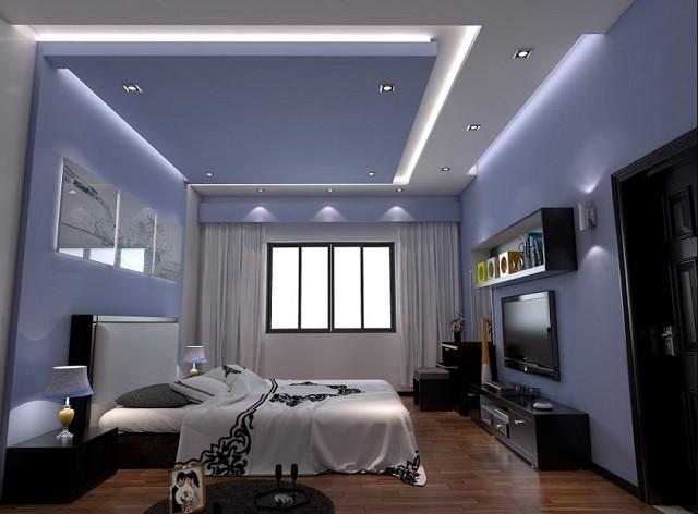 Mẫu trần thạch cao đẹp 2021, phòng ngủ hiện đại