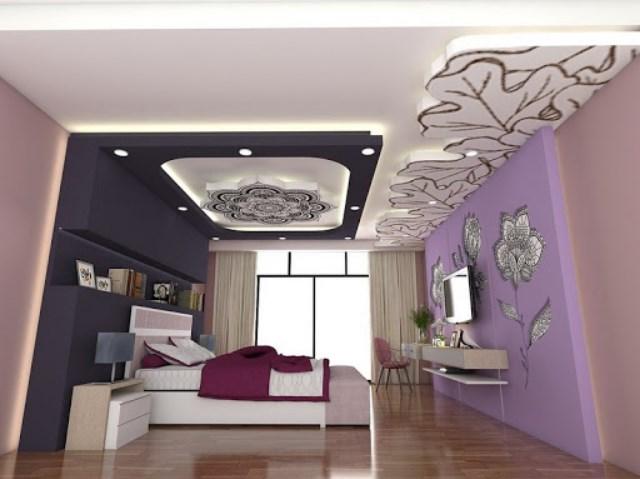 Mẫu trần thạch cao đẹp 2021 cho phòng ngủ vợ chồng sang trọng