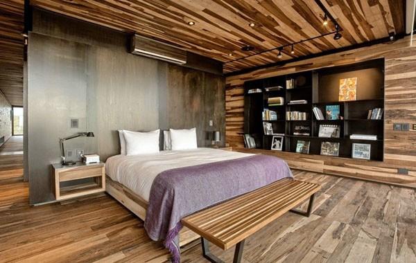 Trần nhôm vân gỗ phòng ngủ