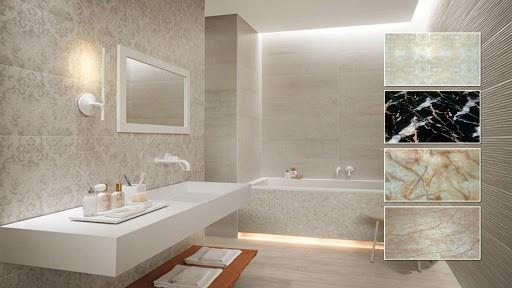 tấm nhựa ốp tường giả gạch phòng tắm