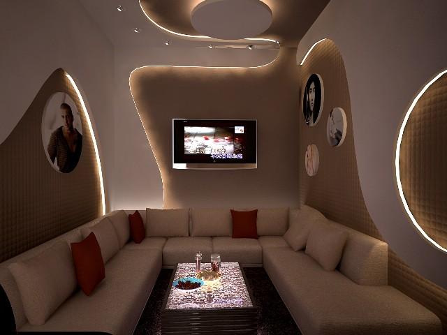 Mẫu trần thạch cao phòng karaoke đẹp quý phái, hiện đại