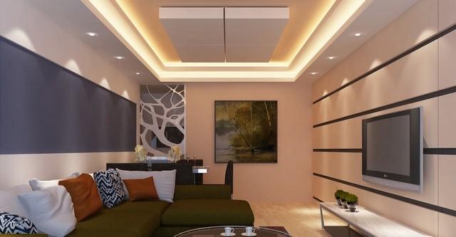 Trần thạch cao phòng khách nhỏ 20 m2