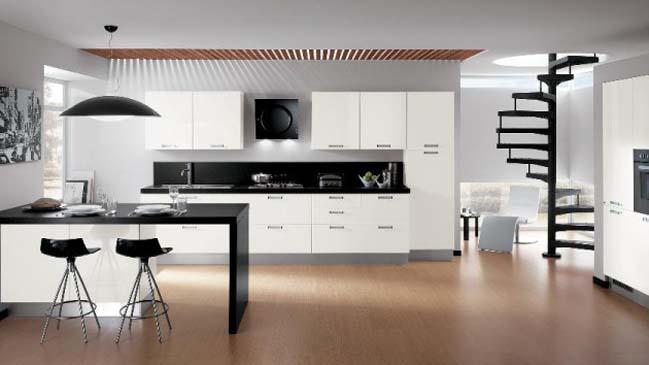 mẫu trần nhôm 3d đẹp phòng bếp