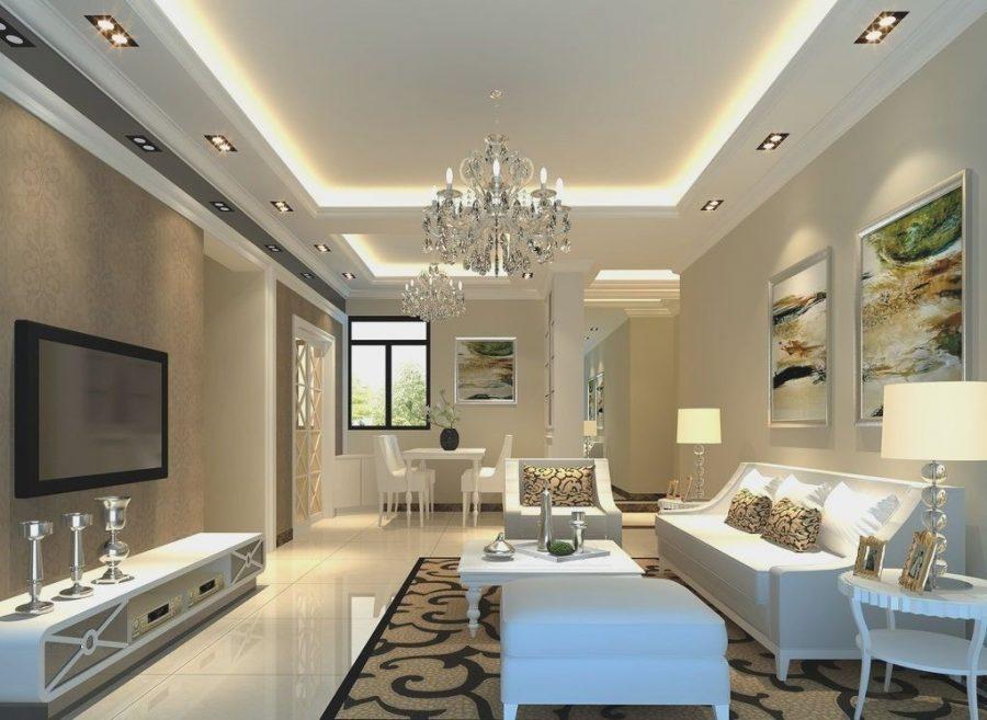 Trần thạch cao đẹp phòng khách 30m2
