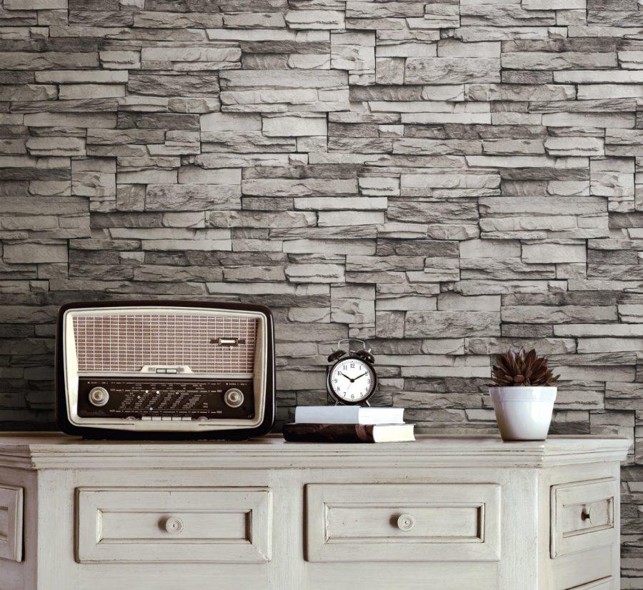Mẫu giấy dán tường giả đá đẹp, mới nhất 2021