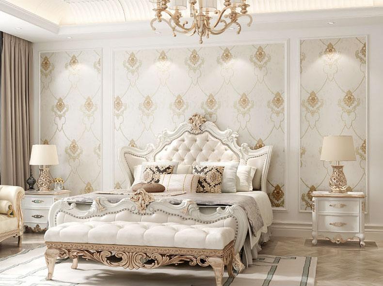 giấy dán tường phòng ngủ đẹp sang trọng