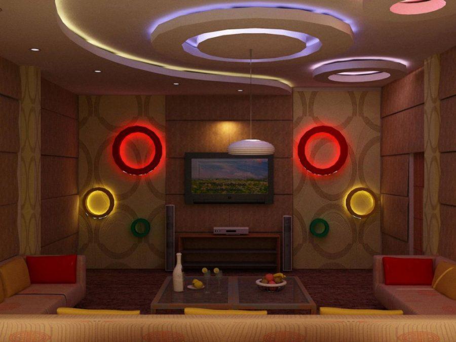 Mẫu trần thạch cao phòng karaoke gia đình đẹp