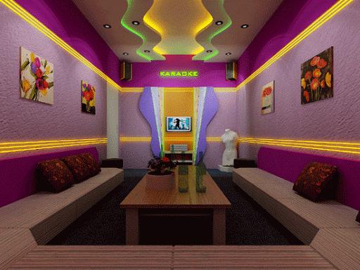 Mẫu trần thạch cao phòng karaoke gia đình