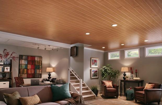 Mẫu trần nhôm vân gỗ đẹp phòng khách
