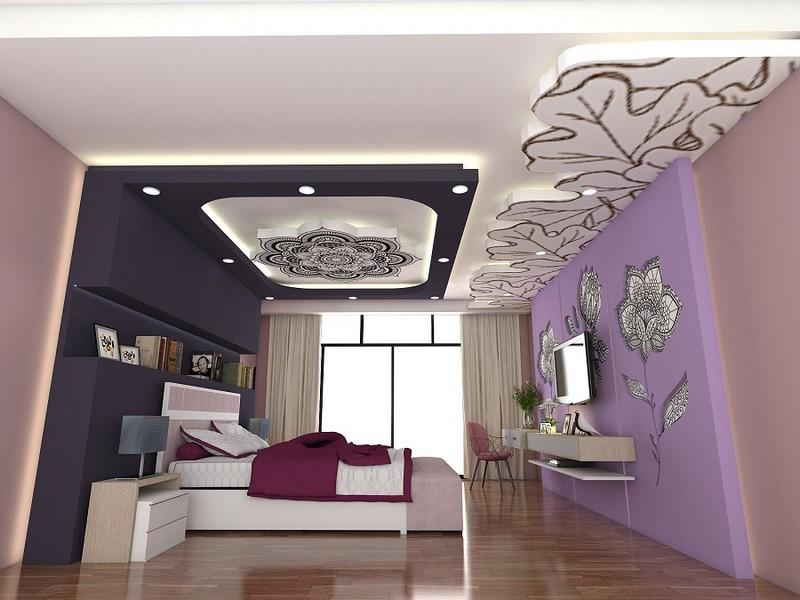 Mẫu trần thạch cao lượn sóng phòng ngủ đẹp hiện đại