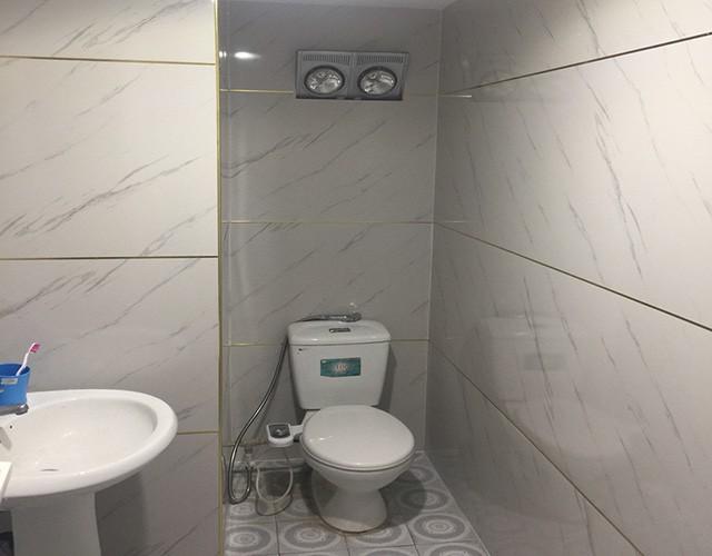 tấm nhựa ốp tường giả gạch phòng vệ sinh