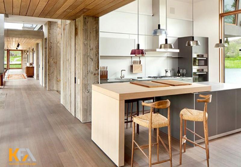 Mẫu thiết kế nội thất chung cư phòng bếp đẹp