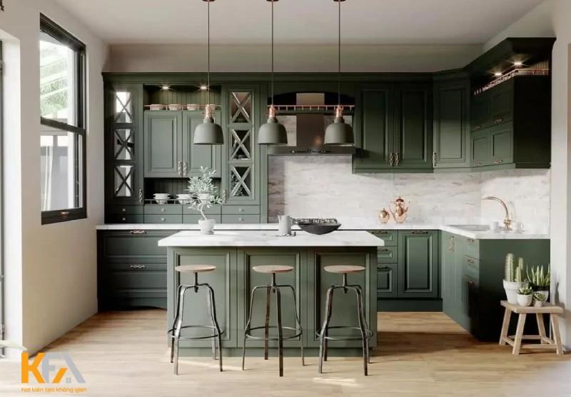 Mẫu thiết kế nội thất chung cư phòng bếp