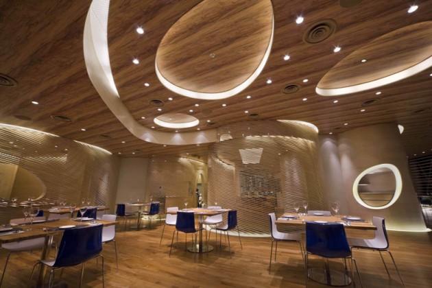 mẫu trần thạch cao đẹp quán cafe