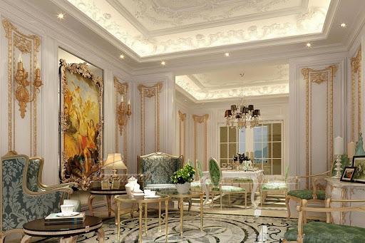 trần thạch cao đẹp phòng khách hiện đại